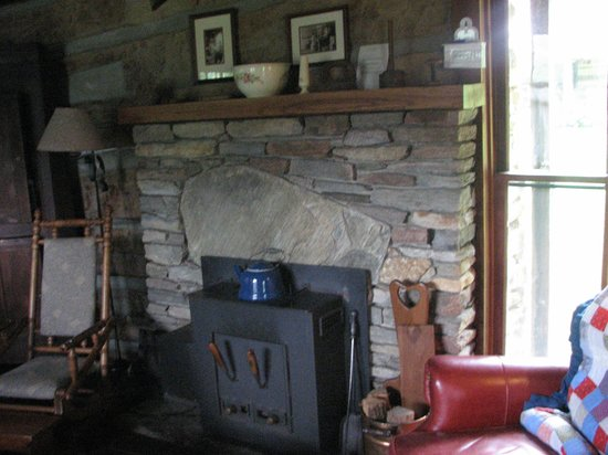 The Mast Farm Inn: The fireplace