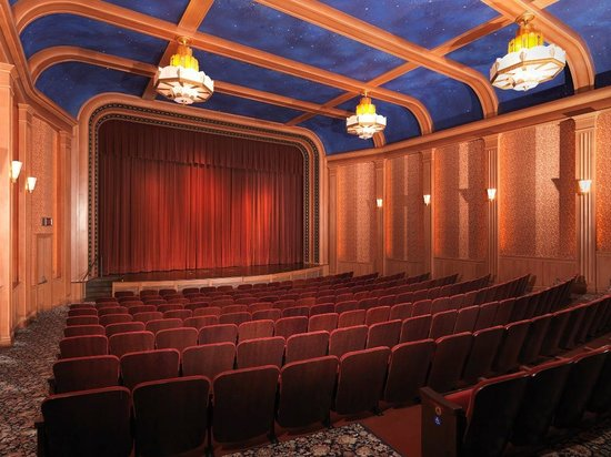 Library of Congress National Audio Visual Conservation Center: Inside the art deco cinema with red velvet seats!