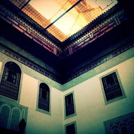 Riad Kettani: vue du salon