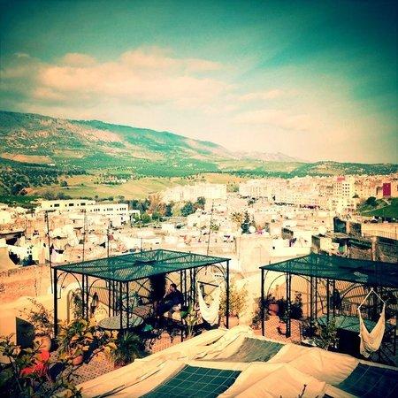 Riad Kettani: vu de la terrasse