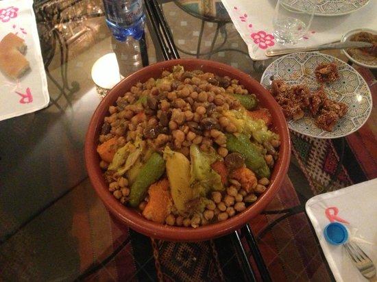 Riad Kettani: couscous merveilleux du Riad
