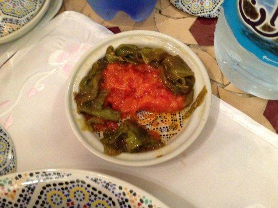 Riad Kettani FES: salade de tomate et poivron (mechouia)