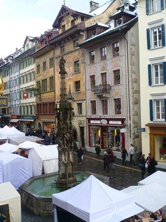 Hotel Krone Luzern: vista dalla camera