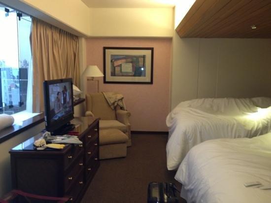 Thunderbird Hotel J. Pardo: quarto com duas camas