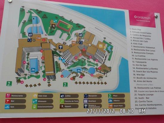 Grand Oasis Palm: Plano de los dos hoteles