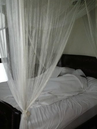 Villa Herencia: Canopy bed with swagged netting