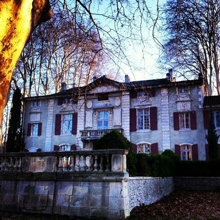 Chateau de Roussan: Lo chateau all'arrivo