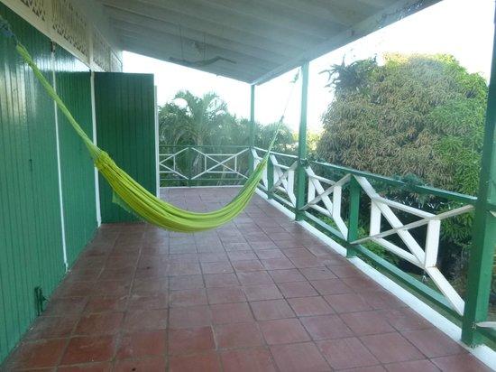 Moonlight Mountain: hammock on the deck