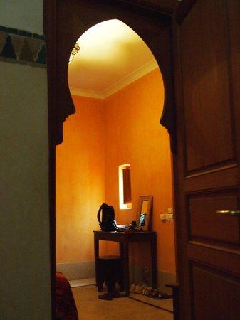 Al Ksar Riad & Spa: vista desde el baño habitación 7