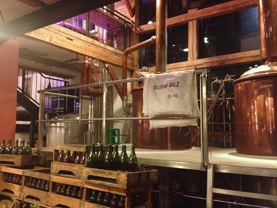 Schongauer Brauhaus: Brauanlage im Wirtsraum