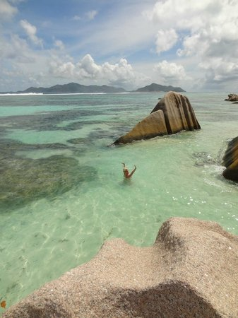 Anse Source D'Argent: Happy on La Digue