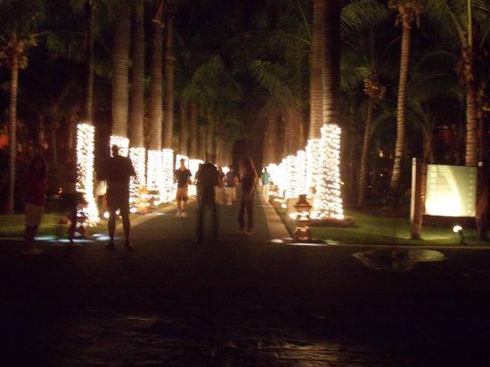Hotel Barcelo Maya Beach: avenida pricipal del hotel