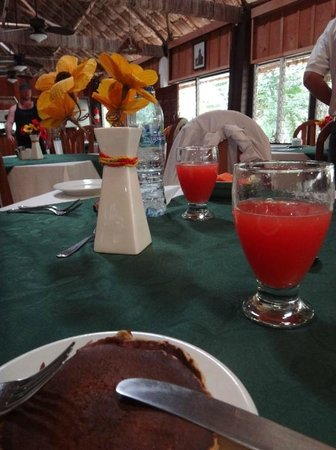 Jungle Lodge Hotel: Breakfast room - pancakes