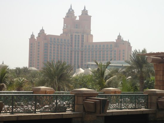 Atlantis, The Palm: view from the waterpark