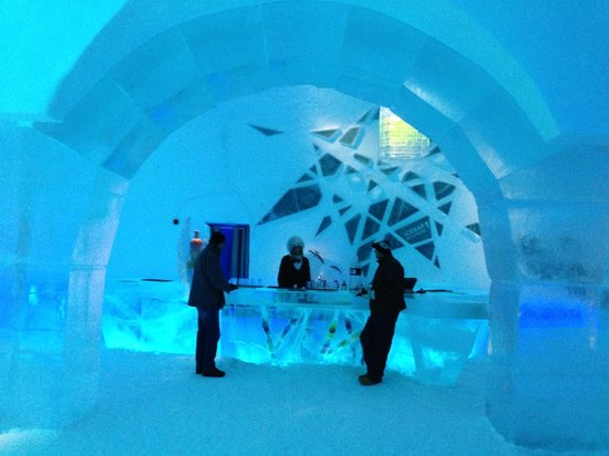 The Ice bar at the Icehotel