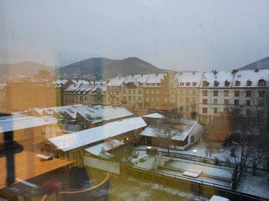 Steffi's Hostel Heidelberg: Blick vom Frühstückraum (4. OG)