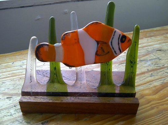 "Newtonmore, UK: Fused glass ""NEMO"""