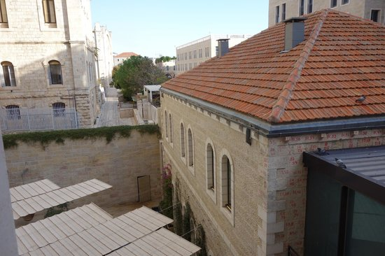 Mamilla Hotel: 2nd floor view; higher is better.