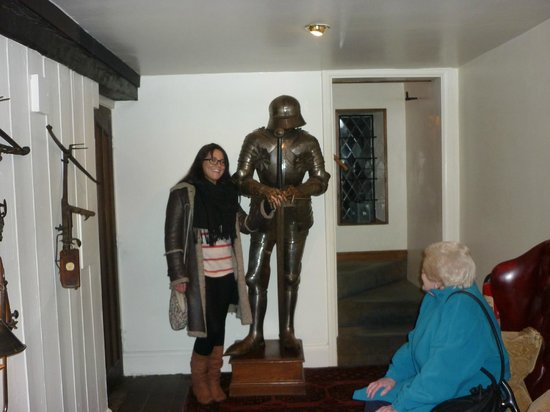 Amberley Castle: Our knight in shining armour protecting our rooms!!