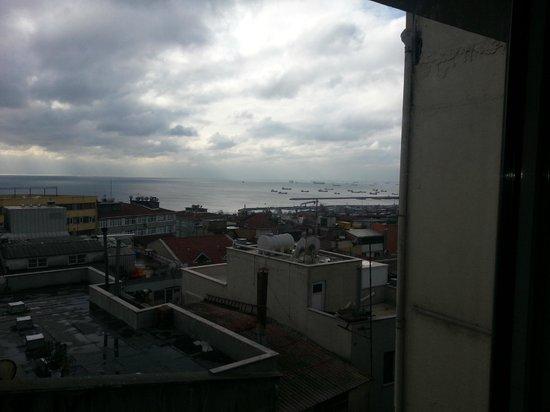 Aprilis Hotel: View from 5th Floor on an overcast rainy day.