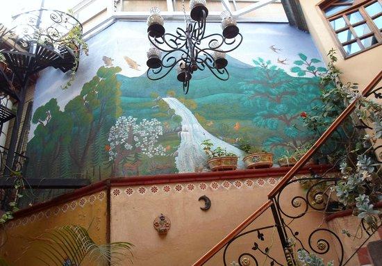 Hotel Real de Santo Domingo : pintura desde el primer piso