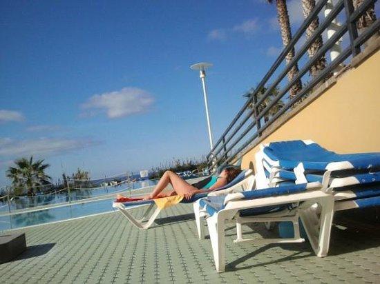 Ponta Delgada, Portugal: terrasse de l'hôtel :)
