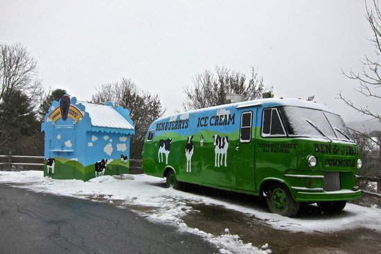 Ben & Jerry's: The B & J van outside