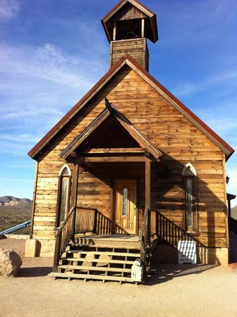 Goldfield Ghost Town: Church - can still get married there.