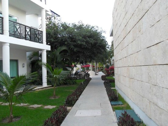 Azul Beach Resort The Fives Playa Del Carmen: pathway to villas