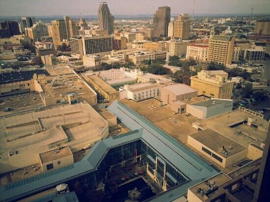 San Antonio Marriott Rivercenter: View back towards Alamo from upper floors.