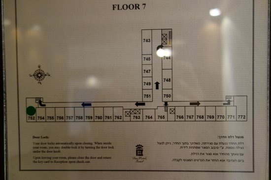 Dan Tel Aviv Hotel: 7th Floor plan to compare rooms.