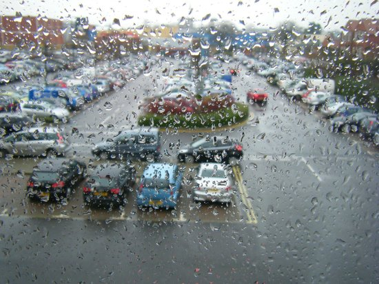 Premier Inn Chichester Hotel: the view from 218 on a miserable Saturday afternoon