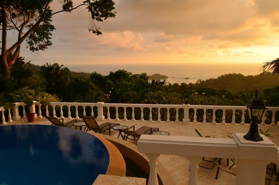 Villa Ambiente: Esplendida vista al Pacifico y Playa Dominicalito