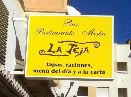 Restaurante La Teja: La Teja - signage