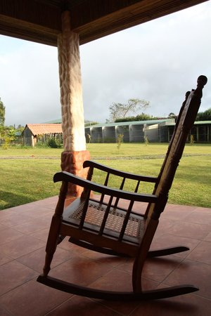 Toucan Rescue Ranch: Two relaxing rocking chairs on the porch where you're surrounded by all the ranch animals.
