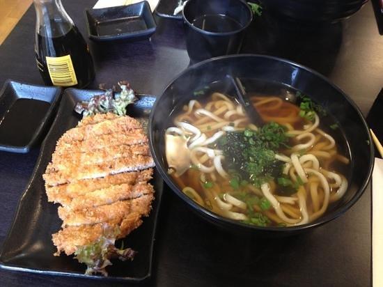 St. Sushi: tonkatsu pork and udon soup
