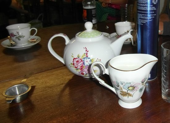 Deli Delights: Tea, served in a cute vintage style tea pot.