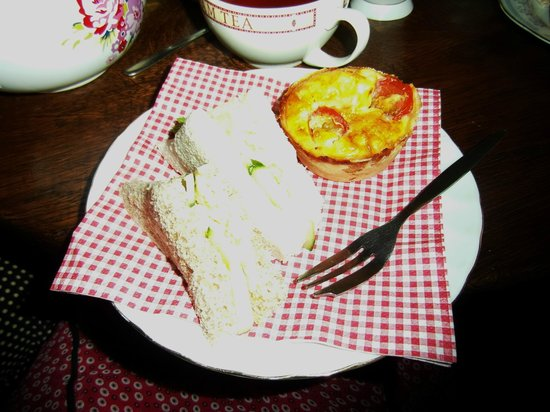 Deli Delights: An example of food from the 'high tea' we received.