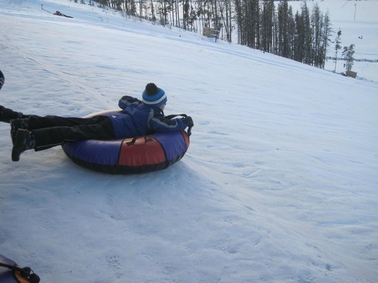Fraser Tubing Hill: Heading down face first