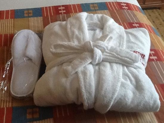 Edmonton Marriott at River Cree Resort: Bathrobe and slippers