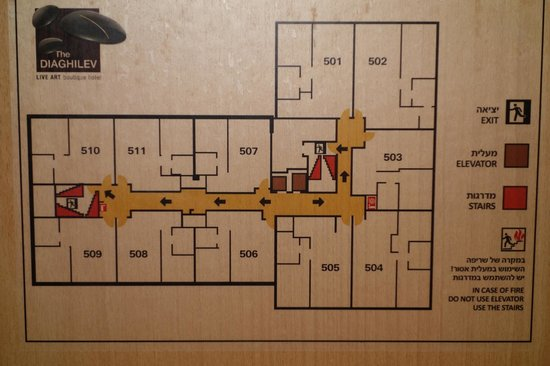 The Diaghilev, LIVE ART Boutique Hotel: Floor plan for room comparison.