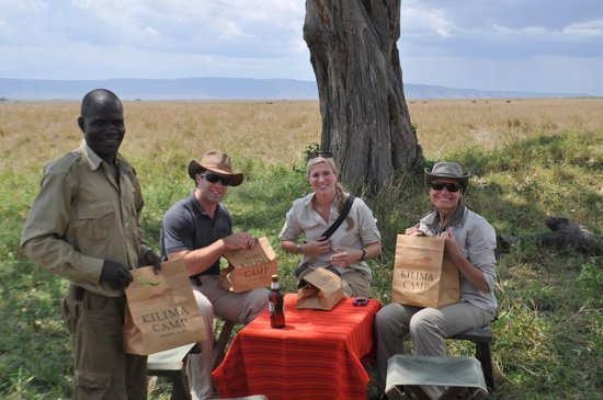 Kilima Camp: Our Safari guide packed us a picnic lunch