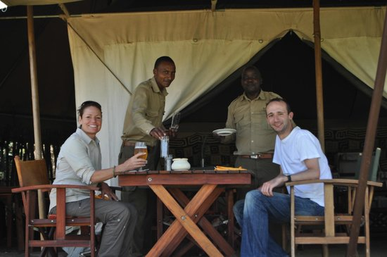 Kilima Camp: The Dining area was intimate and the food excellent