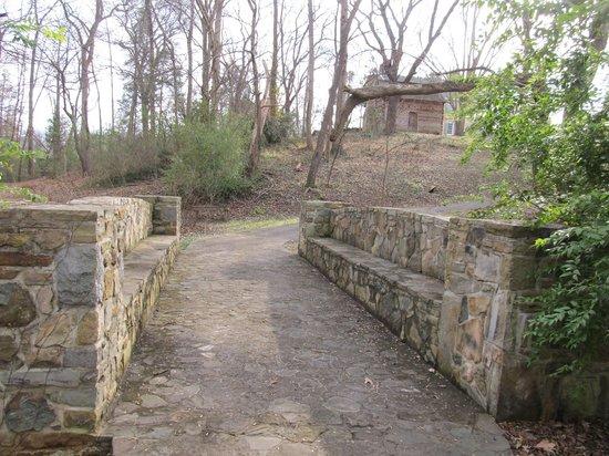 Charlotte Museum of History: Bridge over the creek