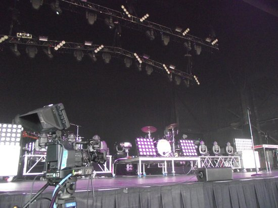 BB&T Pavilion: View from the front row.