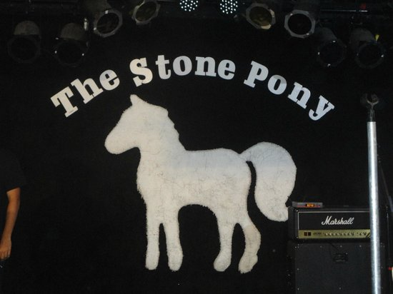 The Stone Pony: Painting on the wall there.