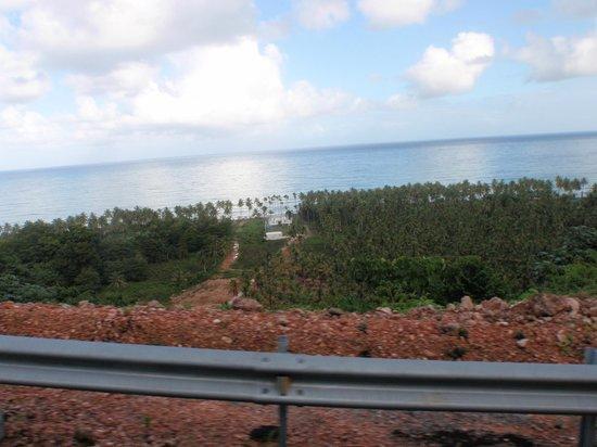 Grand Bahia Principe El Portillo: Toll road to El Portillo. Leaving the Las Terranas area