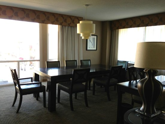 The Heldrich Hotel & Conference Center: Our large living room with seating for 8.