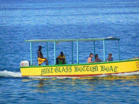 Home Sweet Home Resort: one of many glass bottom boats that pass by all day long