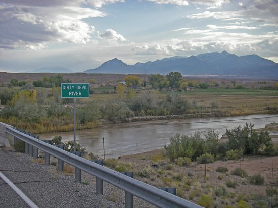 Crossing The Dirty Devil River North Of Hanksville